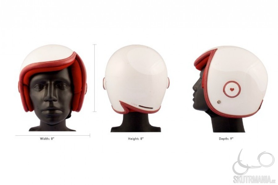 Женский мотошлем Luxy Vespa Helmet от Daniel Don Chang.  Creative.